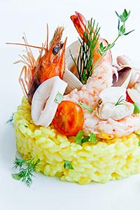 Saffron Seafood Risotto