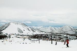 大山のスキー