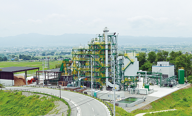グリーン発電会津のバイオマス発電所