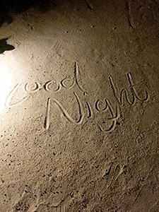 砂上のメッセージ